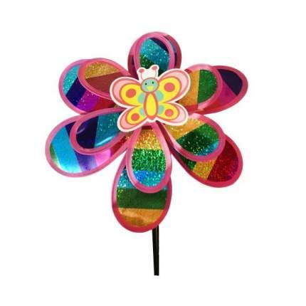 Вертушка на цветочке голограмма Наша игрушка 50 см, 635966