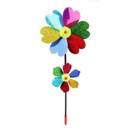 Вертушка голограмма Наша игрушка Цветы 2 в 1 40 см, 635962