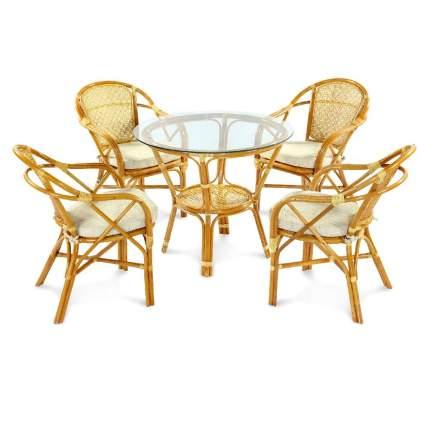 Набор дачной мебели Экодизайн Ellena К стол и 4 кресла