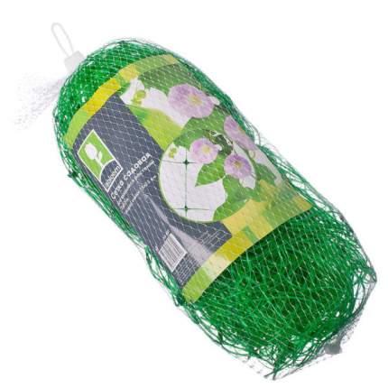 Сетка садовая Silo для вьщихся растений, 2x10м, ячейка 15х15см, пластик, зеленая