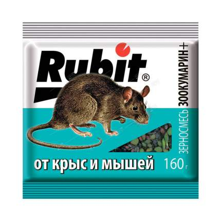 Приманка Летто Rubit от грызунов, зерно, пакет 160г, А-5043