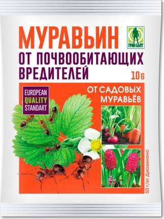 "Приманка Грин Бэлт ""Муравьин"" от садовых муравьев, пакет 10 гр, 01-464"