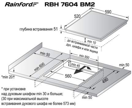 Встраиваемая индукционная панель Rainford RBН 7604 BM2 White