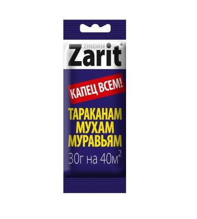 Защитное средство Летто Zarit Зиндан от тараканов, муравьев, мух, гель, шприц 30г, А-5165