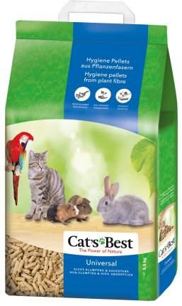 Наполнитель для кошачьего туалета CAT'S BEST Universal, древесный, впитывающий, 10л, 5,5кг