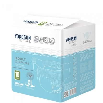 Подгузники на липучках YokoSun для взрослых размер XL 10 шт.