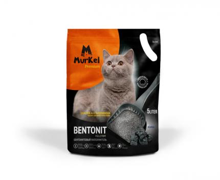 Комкующийся наполнитель для кошек Murkel бентонитовый, активированный уголь, 4.5 кг, 10 л
