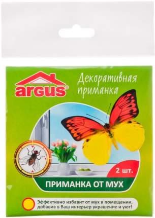 Ловушка клеевая Argus Бабочка от мух, инсектицидная, 2 наклейки, AR-776