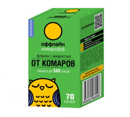 Жидкость от комаров Комарофф оффлайн, 45 мл, серия Длительно