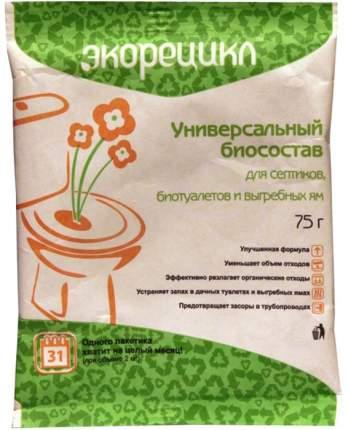 """Биосостав Радуга """"Экорецикл"""", для выгребных ям, септиков, биотуалетов, пакет 75г"""
