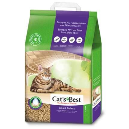 Наполнитель для кошачьего туалета CAT'S BEST Smart Pellets древесный комкующийся, 20л 10кг
