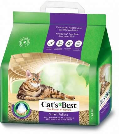 Комкующийся наполнитель для кошек CAT'S BEST Smart Pellets древесный, 5 кг, 10 л