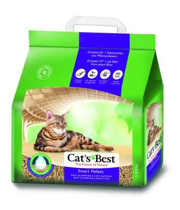 Комкующийся наполнитель для кошек CAT'S BEST Smart Pellets древесный, 2.5 кг, 5 л