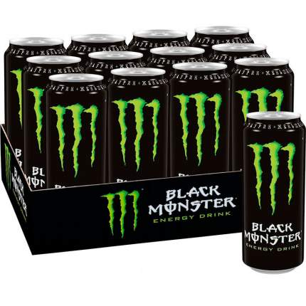 Энергетический напиток Black Monster 12 шт 449 мл