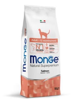 Сухой корм для кошек Monge Adult, лосось, 10кг