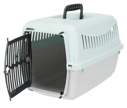 Бокс транспортный для животных TRIXIE Junior, XS: 26x25x39 см, светло-серый, мятный