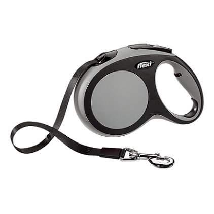 Поводок-рулетка Flexi New Comfort L до 60 кг, лента 5 м, черный-серый