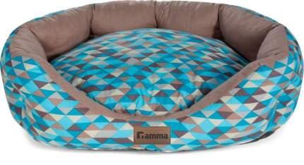 Лежанка овальная для животных Gamma Мозаика, медиум, 60x48x20 см