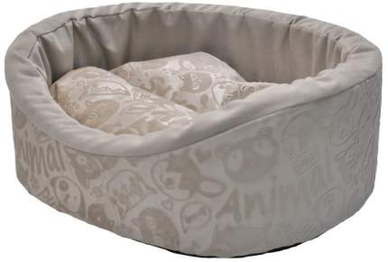 Лежак для животных Homepet, велюр ( бежевый), 43x38x15 см