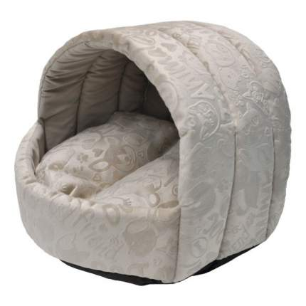 Домик для животных Homepet Эстрада, велюр ( бежевый), 38x35x27 см
