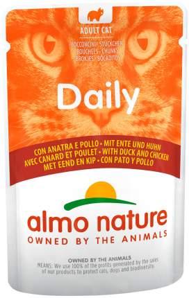 Влажный корм для кошек Almo Nature Daily, курица и утка, 30шт по 70г