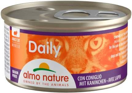 Консервы для кошек Almo Nature Daily, нежный мусс с кроликом, 24шт по 85г