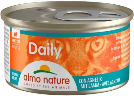 Консервы для кошек Almo Nature Daily, нежный мусс с ягненком, 24шт по 85г