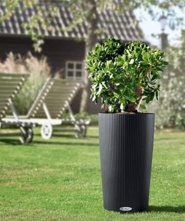 Кашпо садовое Lechuza 13953 Cilindro Color 32 серый