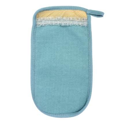 """Мочалка """"Королевский пилинг"""", рукавица с декором-тесьма, 14,5х25см (Банные штучки), 41291"""