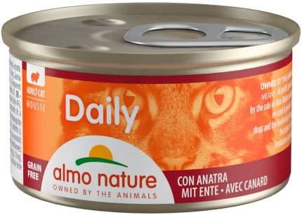 Консервы для кошек Almo Nature Daily Adult, нежный мусс с уткой, 24шт по 85г