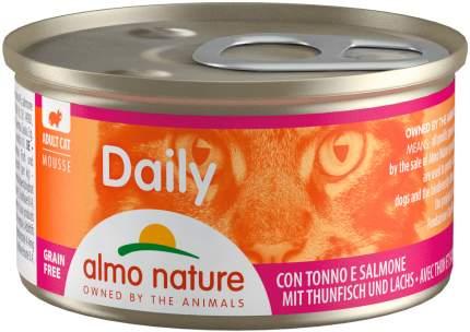 Консервы для кошек Almo Nature Daily, нежный мусс с тунцом и лососем, 24шт по 85г