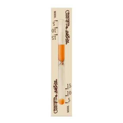 Часы песочные для сауны на 15 минут, тип 1 исп.2 (Стеклоприбор), 300443-Оранжевый песок