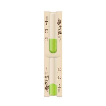 Часы песочные для сауны на 15 минут, тип 1 исп.1 (Стеклоприбор), 300442-Зеленый песок