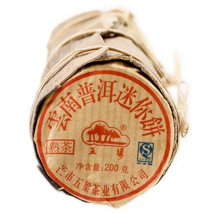 Пуэр Шу Мини Бин (бамбук 20х10 г), 100 г