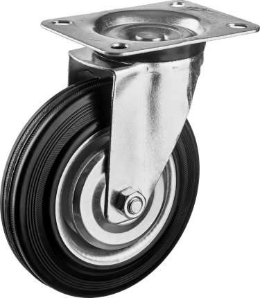 Колесо поворотное d=160мм, г/п 145кг, резина/металл, игольчатый подшипник, ЗУБР