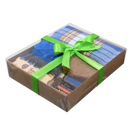 """Подарочный Банный набор для мужчин """"Синий"""", 5 предметов (Банные штучки)"""