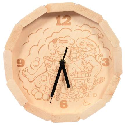 """Часы кварцевые в форме бочки """"В парилке"""", 27х8см (Банные штучки)"""