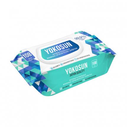 Влажные гигиенические салфетки YokoSun, 108 шт