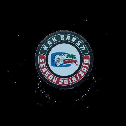 Шайба Hockey односторонняя цветная в упаковке 2 АК БАРС