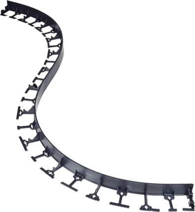 Бордюр пластиковый, черный, h=58мм, 1м