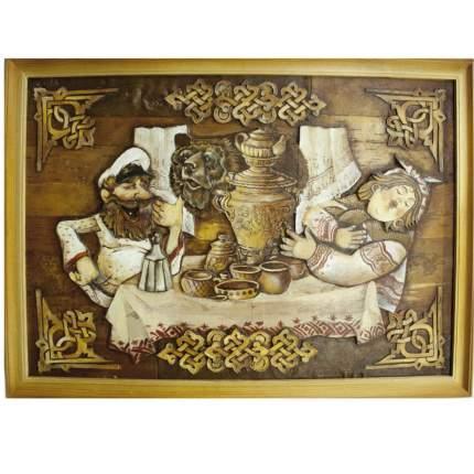 "Картина берестяная ""Ох Потапыч"", №35Н, 70х50см (Наш Кедр), 5267"