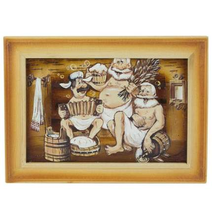 "Картина берестяная ""Старики-разбойники"", №11Б, 21х30см (Наш Кедр), 1395"
