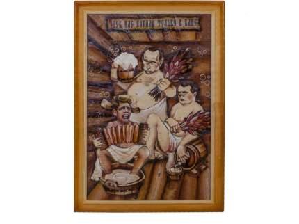 """Картина берестяная """"Путин и Ко"""", №10А, 60х40см (Наш Кедр), 1391"""
