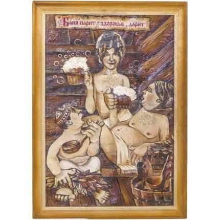 "Картина берестяная ""Никулин, Вицин, Моргунов"", №8Г, 60х40см (Наш Кедр), 1392"