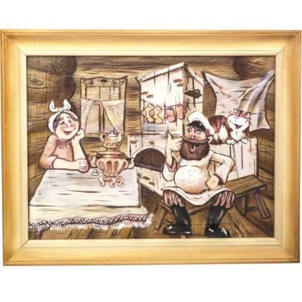 """Картина берестяная """"Чтобы жили не тужили"""", № 4Д, 40х30см (Наш Кедр), 1675"""