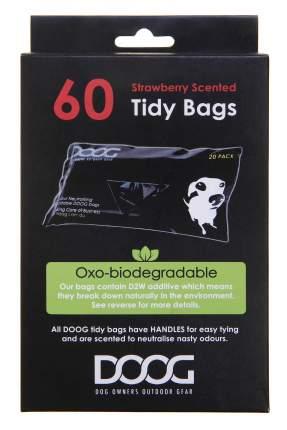Пакеты для уборки за собаками Doog Tidy Bags биоразлагаемые, черные, 60шт