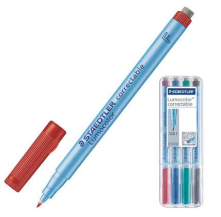 """Маркеры универсальные для любой гладкой поверхности """"Staedtler"""", 4 цвета, стиратель, 0,6 м"""