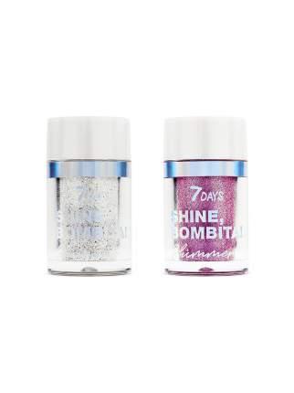 Набор шиммер для глаз, лица и тела 7DAYS SHINE, BOMBITA! / 01 Creative