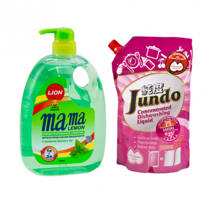 Набор Mama Lemon зеленый чай 1 л и гель для мытья посуды Jundo Sakura 800 мл
