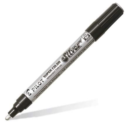 Маркер перманентный PILOT Super Color 2-4мм лаковый серебряный (1 штука)